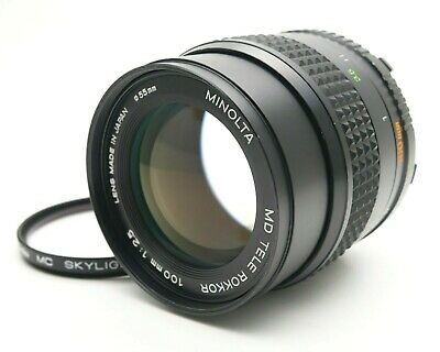 【Exc+4】Minolta MC TELE ROKKOR 100mm f/2.5 MF Prime Lens for MC/MD From JAPAN #52