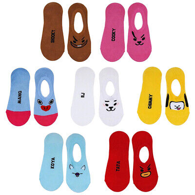 BTS BT21 Cotton Character Ankle Socks - Bangtan Boys Love Yourself Shoes