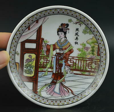 AAA Decor Porcelain Paint Classical Belle Delicate Lovely Plate China Artwork