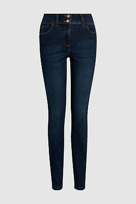 Ladies Next High Waist SKINNY Enhancer Jeans Blue Sizes 6 - 22 CURRENT LINE