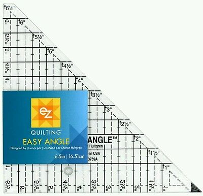 "Ez Easy Angle 6.5"" Acrylic Quilting Template - Angle Triangle- Patchwork Quiltin"