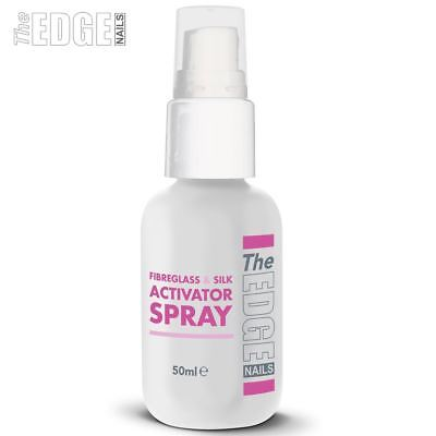 The Edge Nails 50ml Resin Activator Spray For Fibreglass / Silk Wraps False Nail
