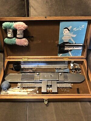 Rare 60's Teen Knit Knitting Machine And Instructions