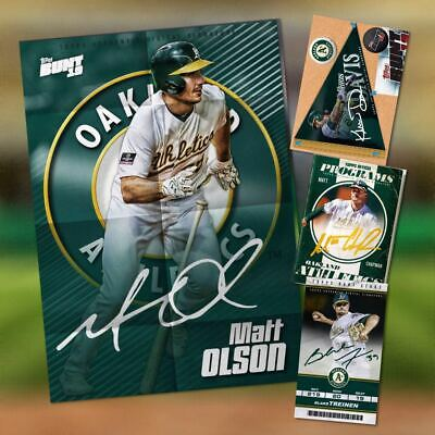 2019 ROAD TRIP SIGNATURE WEEK 3 OAKLAND  SET OF 4 CARDS  Topps Bunt Digital Card