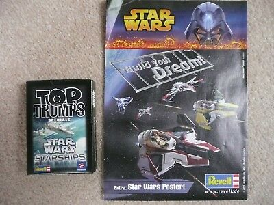Top Trumps Specials Star Wars Starships Revell Edition 2008 + 2005 Poster