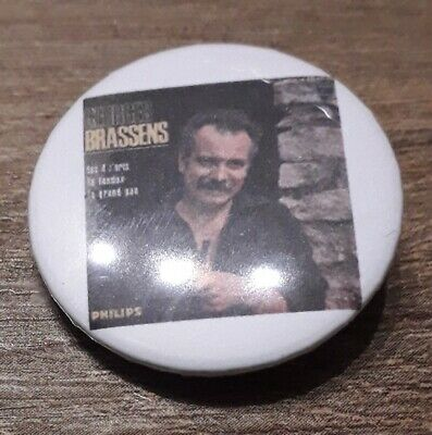 Badge 32mm brassens 13