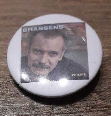 Badge 32mm brassens 14