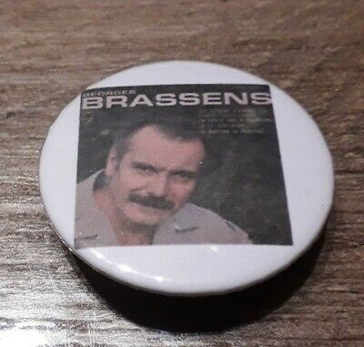 Badge 32mm brassens 15