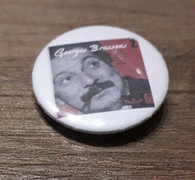 Badge 32mm brassens 17