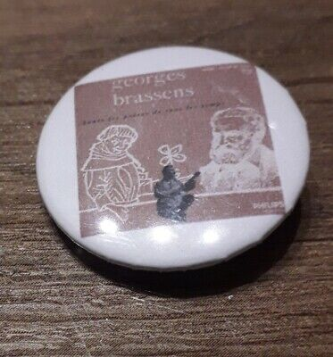 Badge 32mm brassens 18