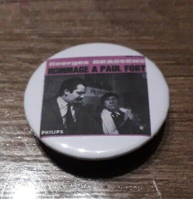 Badge 32mm brassens 19
