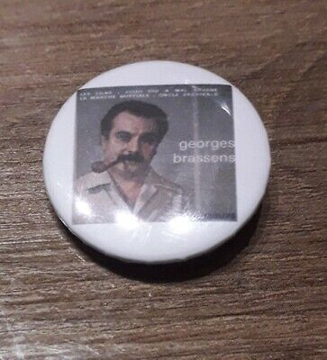 Badge 32mm brassens 20