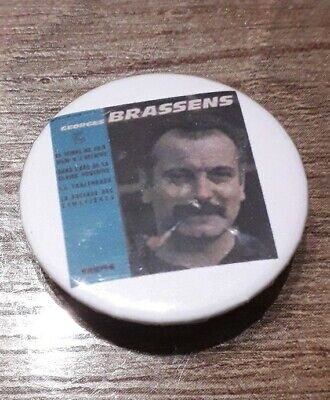 Badge 32mm brassens 21