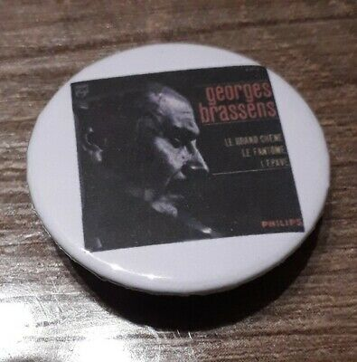 Badge 32mm brassens 23