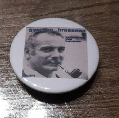 Badge 32mm brassens 24