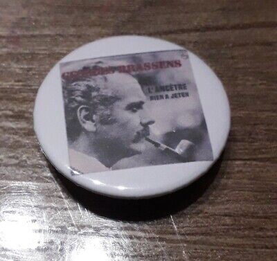 Badge 32mm brassens 25