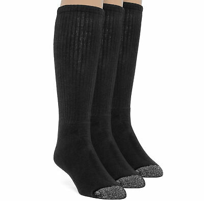 Frad Rivka Men's Cotton Premium Over the Calf Cushion Socks - 3 Pairs