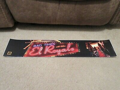* BAD TIMES at the EL ROYALE [2018] * 5x25 [LARGE] MOVIE THEATER POSTER [MYLAR]