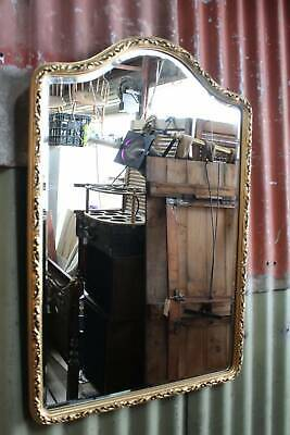 A Vintage Gilt Framed Mirror - 79cm High