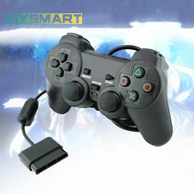 Black Wired Wireless Controller Dual Vibration Gamepad ,PS2 PlayStation game AU