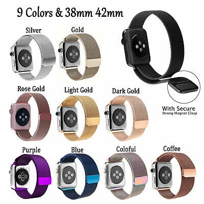Magnetic Milanese iwatch Band Strap 38-44mm for Apple Watch Sport Series 1 2 3 4