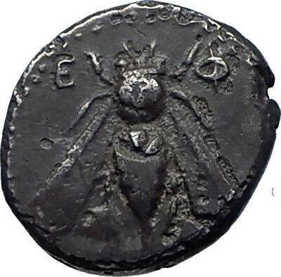 EPHESOS in IONIA Genuine Authentic Ancient 340BC Silver Greek Coin w BEE i77938