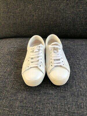 Scanlan Theodore White Leather Sneakers, Size 37, Great Condition
