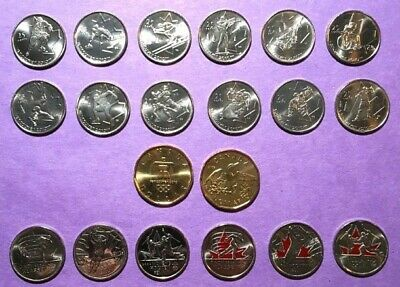 Canada 2007-2010 Complete 20 Coin Vancouver Olympics Coin Set