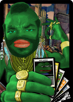 MRTALPHA CounterParty Cryptoart, Virtual Trading Card. Rare Pepe NFT Block chain