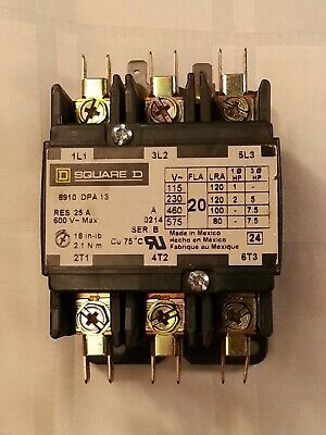 New Square D 8910 Dpa 13 Definite Purpose Contactor