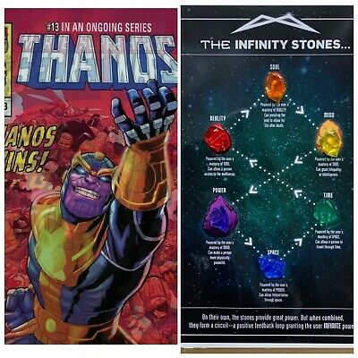 THANOS Infinity Stones Gem Set & Guide Print & THANOS #13 Lenticular Comic