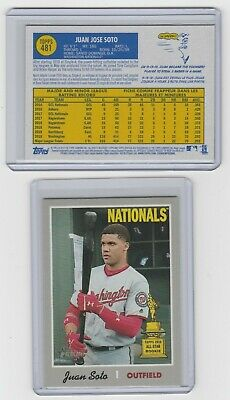 2019 Topps Heritage Juan Soto SSP High Number,French Text  Washington Nationals