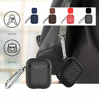 ShockProof Carbon Fiber Texture Silicone Protective Case Cover For Apple AirPods