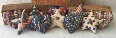 Primitive  Americana Bowl Fillers// Ornies American Flags Stars Flowers//Grunged