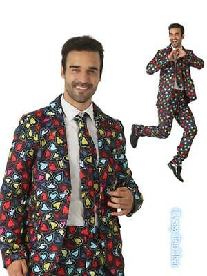 N3 Mens Stage Funny Fancy Dress STAG Stand Out Lovely Heart Suits COSTUME