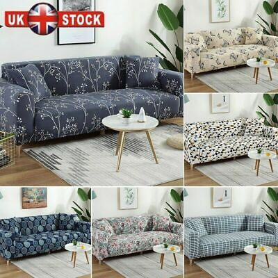 3/4 Seater Elastic Sofa Covers Slipcover Settee Stretch Floral Couch Protector