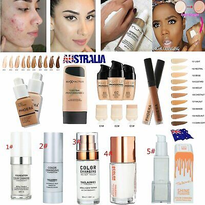TML Color Changing PHOERA Liquid Foundation Concealer Makeup Matte Brighten OD