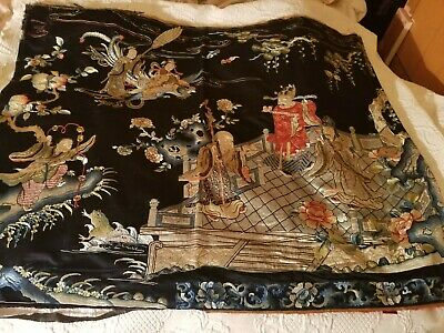 antique chinese silk tapestry very old