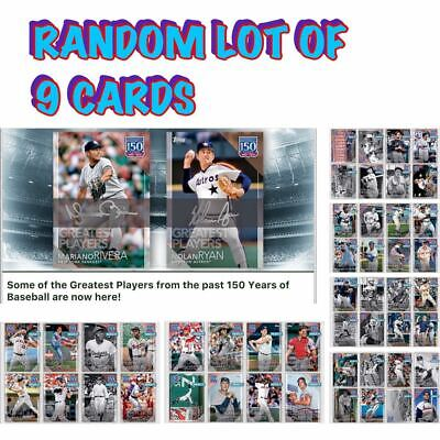 2019 150 YEARS OF BASEBALL GREATEST PLAYERS RANDOM SET OF 9 Topps Bunt Digital