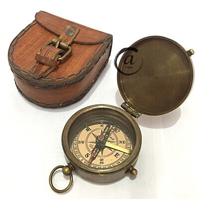 Naval Military Compass Pocket Gifts With Navigation Tool Marine Decor Functional
