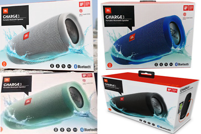 NEW JBL Charge 3 by Harman Portable Bluetooth Speaker IPX7 Waterproof Black Teal