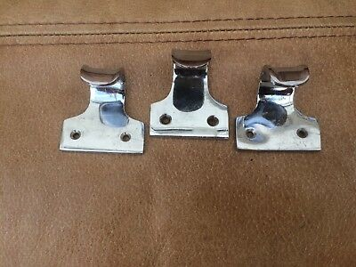 Set of 3 Chrome Sash Window Handles