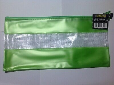 Osmer Pencil Case Green with mesh 340 x 170 mm  LOT 40