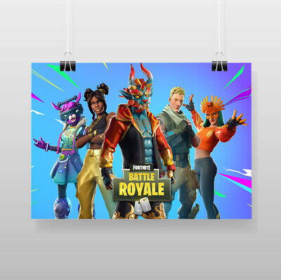 Fortnite Battle Royale Skins Custom Wall Decor New Personalized Art Poster Print