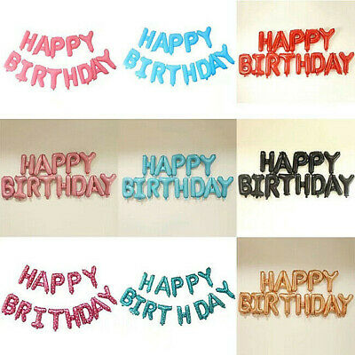 🥳 Happy Birthday Balloon Banner Self Inflating Letters Foil Balloons Party 🥳