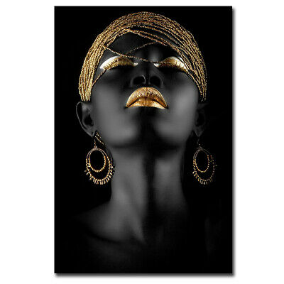 African Woman Cubism Art Canvas Prints Paintings Home Decoration Wall Poster AU