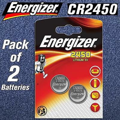 2 x Energizer CR2450 3Volt Lithium Coin Cell Battery 2450 DL BR 2450 LONG EXPIRY