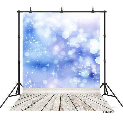 3X5ft Backdrops for Photo Studio Light Blue Glitter Background for Baby Portrait