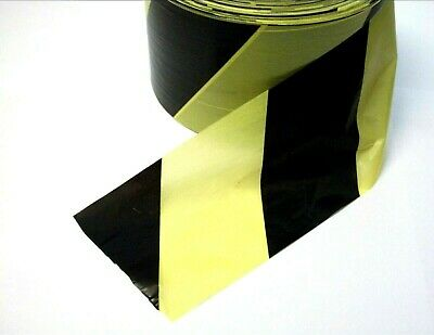 Black & Yellow barrier tape. 500 Metres. Hazard. Warning. Safety. *Non adhesive!