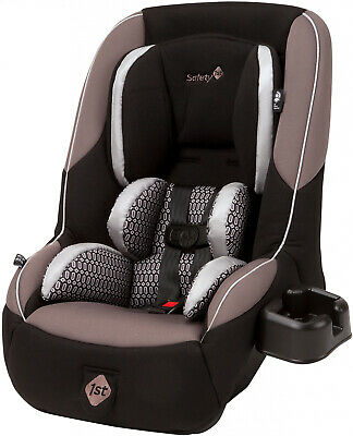 Baby Car Seat Adjustable Headrest Chamber Pattern Fabric With Five-Point Harness